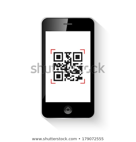qr code on smart phone isolation vector eps10 Stock photo © MPFphotography