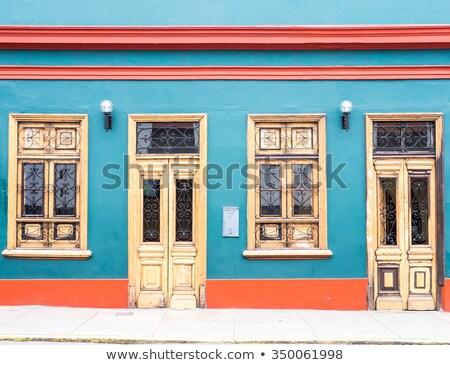 伝統的な スタイル 窓 ペルー 通り デザイン ストックフォト © xura