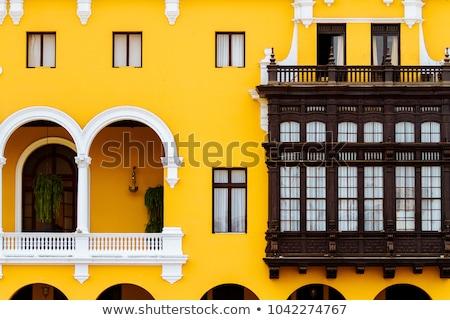 Sömürge sarı Bina lima Peru ana Stok fotoğraf © xura
