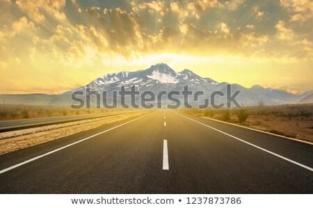 dombok · útszéli · piros · kő · autópálya · fű - stock fotó © gregory21