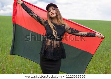 Vlag kleur patroon Rood zwarte zwaard Stockfoto © mayboro