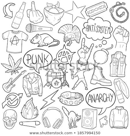 Punk icono ilustración mecedora hombre persona Foto stock © Krisdog