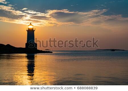kikötő · naplemente · kép · gyönyörű · csónak · marina - stock fotó © gregory21