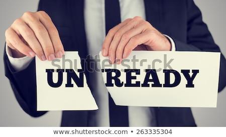 businessman ready tear paper Stock photo © PetrMalyshev