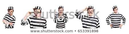 Funny Gefängnis Häftling orange Polizei Ball Stock foto © Elnur