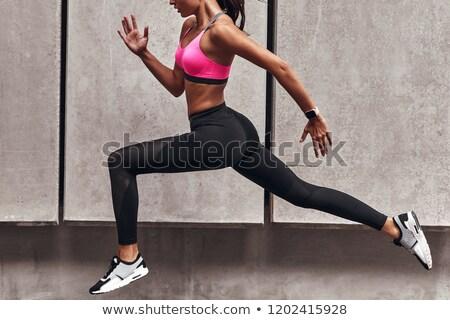 Sport gambe primo piano foto esecuzione atleta Foto d'archivio © Novic