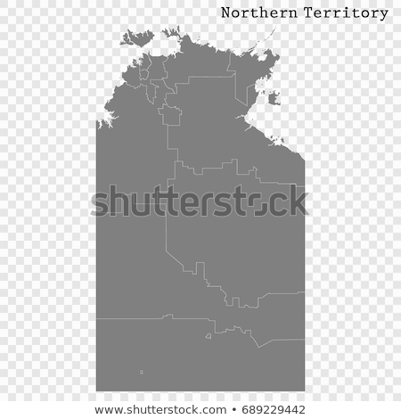Térkép északi terület kék vektor Ausztrália Stock fotó © rbiedermann