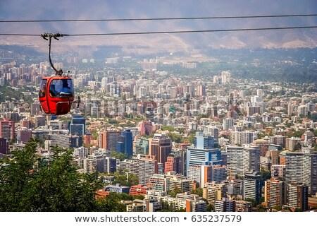 binalar · Santiago · Şili · güney · amerika · şehir · inşaat - stok fotoğraf © spectral