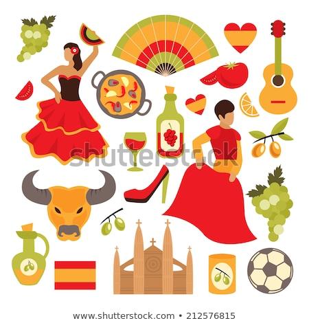 Illustration Spanish tourist attractions in Spain Stock photo © Krisdog