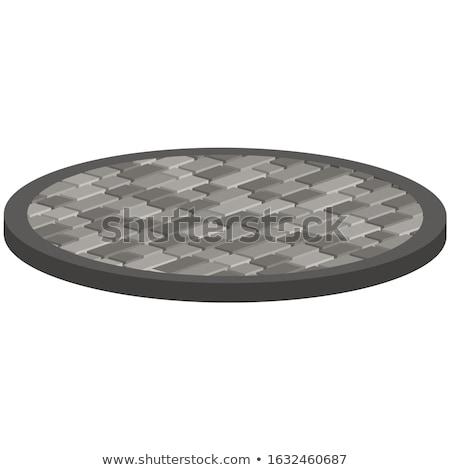 Szürke járda űrlap kör végtelenített textúra Stock fotó © tashatuvango