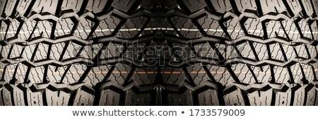 autógumi · közelkép · új · autó · textúra · tél · fekete - stock fotó © gemenacom