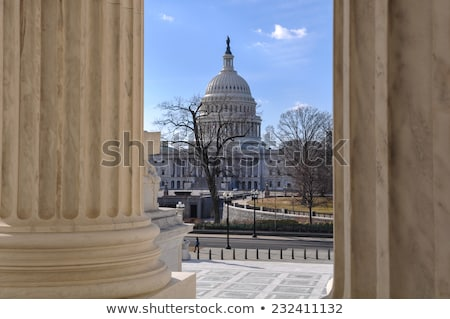 rechter · gebouw · kolom · Amerikaanse · vlag · Washington · DC · USA - stockfoto © billperry