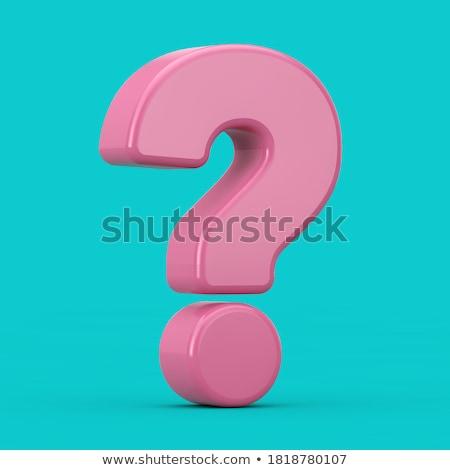Gizemli soru soru işareti delik kesmek karton Stok fotoğraf © Stocksnapper