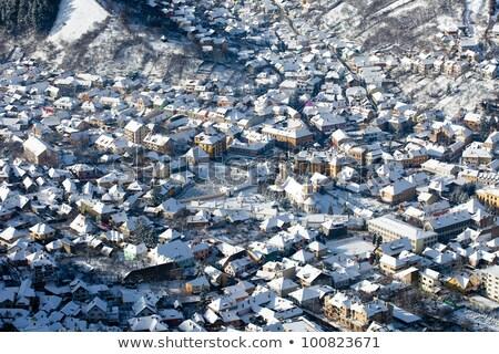 brasov old city aerial view stock photo © pixachi