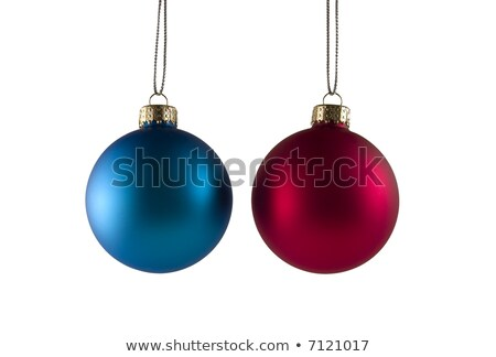 two hanging red dull christmas balls Stock photo © Rob_Stark