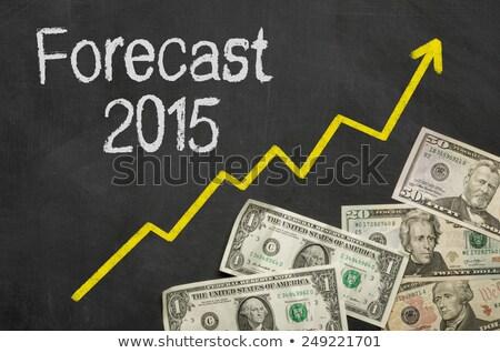 Tekst tablicy ceny prognoza 2015 podpisania Zdjęcia stock © Zerbor