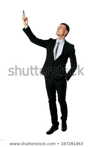 Portrait affaires connexion téléphone blanche Photo stock © deandrobot