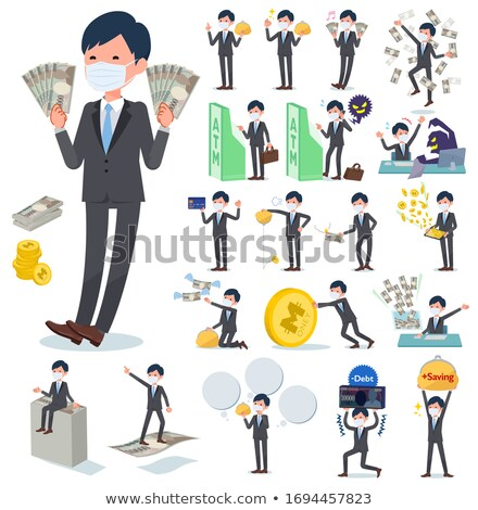 Wealthy successful businessman burning money Stock photo © juniart