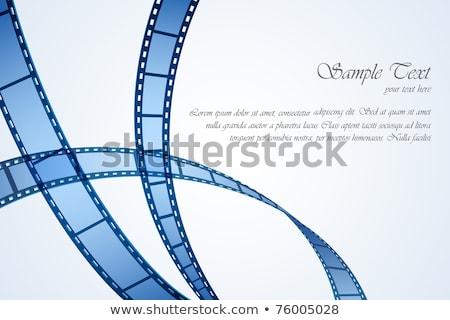 動画 映画 ストライプ 映画 テンプレート 白 ストックフォト © make