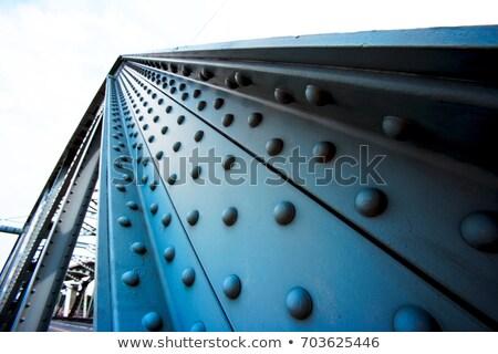 Szczegół stali most malowany srebrny lasu Zdjęcia stock © PixelsAway
