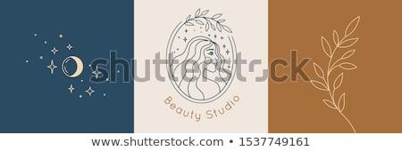 красоту женщины лице логотип салона дизайн логотипа Сток-фото © twindesigner