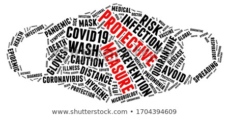 Dangerous word cloud with white background Stock photo © tang90246