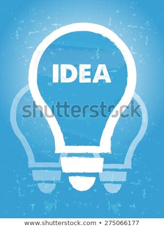 eredeti · ötlet · gondolkodik · üzlet · gondolkodik · tanácsadás - stock fotó © marinini