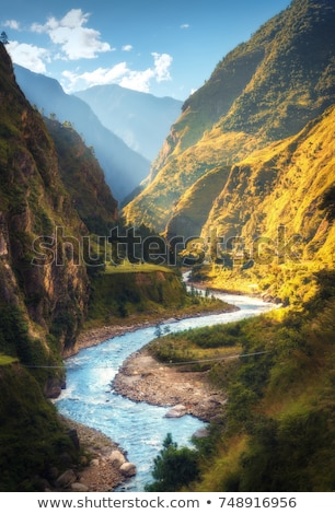 landscape river view from hill  Stock photo © OleksandrO