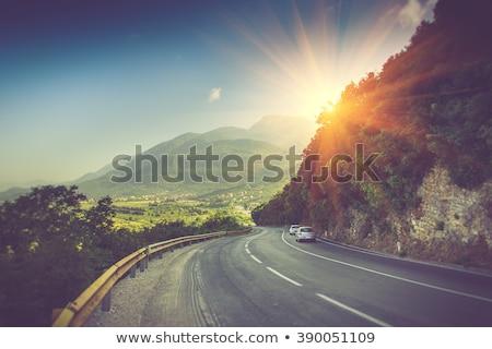 Сток-фото: горные · пейзаж · забор · панорамный · гор