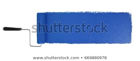 festék · illusztráció · egyéniség · tömeg · háttér · kék - stock fotó © kovacevic