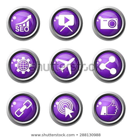 SEO Internet Sign Violet Vector Button Icon Design Set 1 Stock photo © rizwanali3d