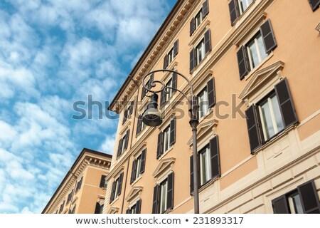 ウィンドウ 住宅の 家 ローマ イタリア ストックフォト © haraldmuc
