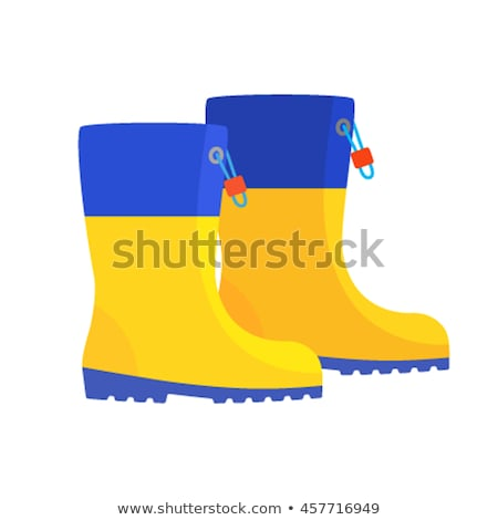 two rubber knee-boots for children Stock photo © konturvid