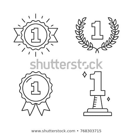 1 Number Vector golden Web Icon Stock photo © rizwanali3d