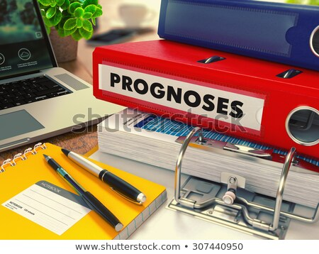 rosso · ufficio · cartella · statistiche · desktop - foto d'archivio © tashatuvango