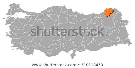 harita · İzmir · dışarı · idari · bölge · yol - stok fotoğraf © istanbul2009