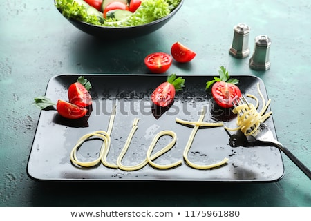 weight losswords made of vegetables stock photo © fuzzbones0