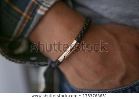 Bracelets of leather in colorful colors hand crafted Stock photo © lunamarina