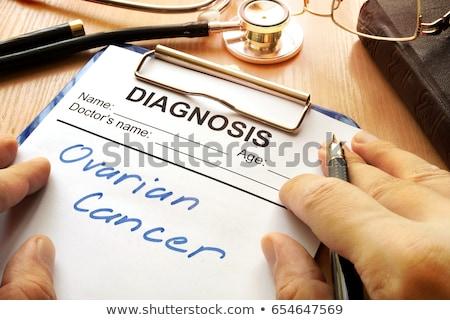 рак · напечатанный · диагностика · медицинской · красный · стетоскоп - Сток-фото © tashatuvango