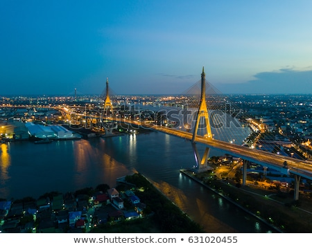 industrial road at night in bangkok thailand stock photo © master1305