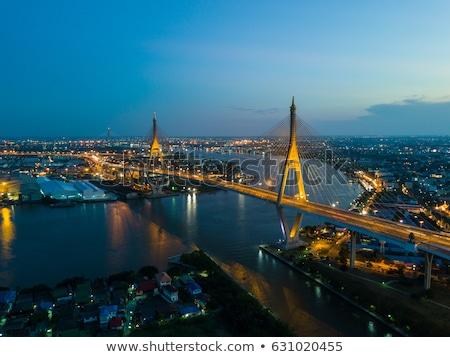 Endüstriyel yol gece Bangkok Tayland iş Stok fotoğraf © master1305