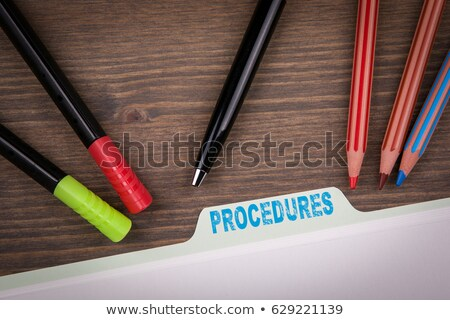 Procedures Concept on Folder Register. Stock photo © tashatuvango