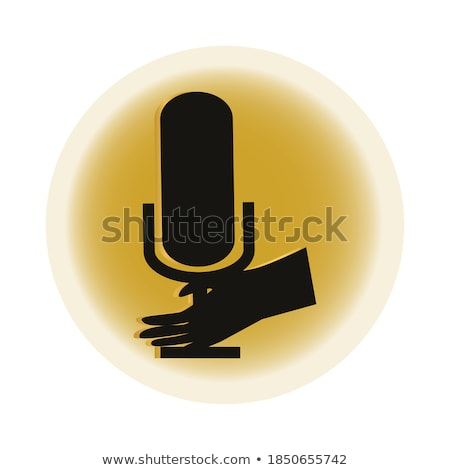 Microphone Golden Vector Icon Button stock photo © rizwanali3d