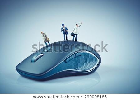 Miniatuur mensen top computermuis business macro Stockfoto © Kirill_M