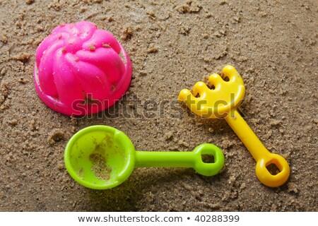 plastic shovel and rake Stock photo © GeniusKp