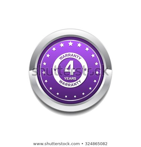 Ans garantie pourpre vecteur icône bouton Photo stock © rizwanali3d