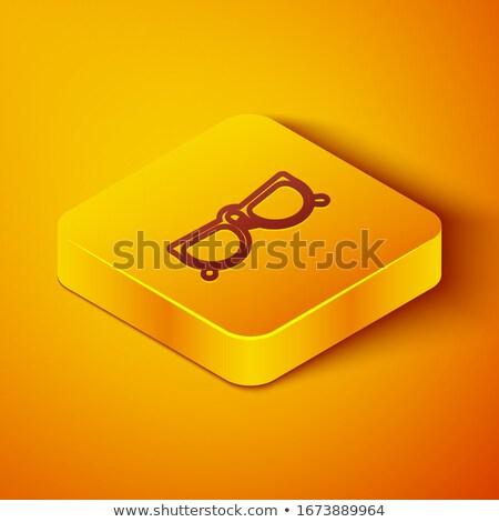 スペクタクル 黄色 ベクトル アイコン ボタン デザイン ストックフォト © rizwanali3d