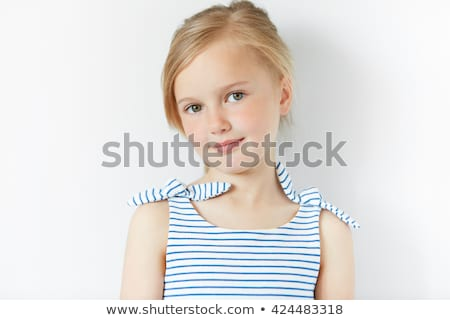 Blond little girl portratit happy smiling facing camera Stock photo © lunamarina