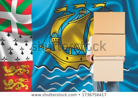 Turkey and Saint Pierre and Miquelon Flags Stock photo © Istanbul2009