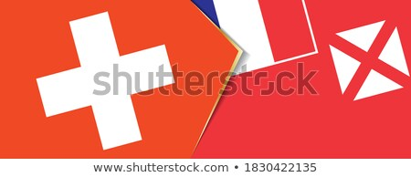 Suisse drapeaux puzzle isolé blanche affaires Photo stock © Istanbul2009